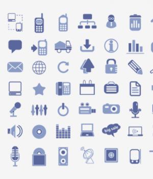200 Business ve Media İkon Seti [EPS]