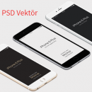 3D İphone 6 Plus PSD Vektör Mockup