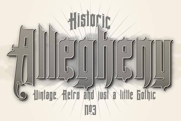 Allegheny-ucretsiz-font