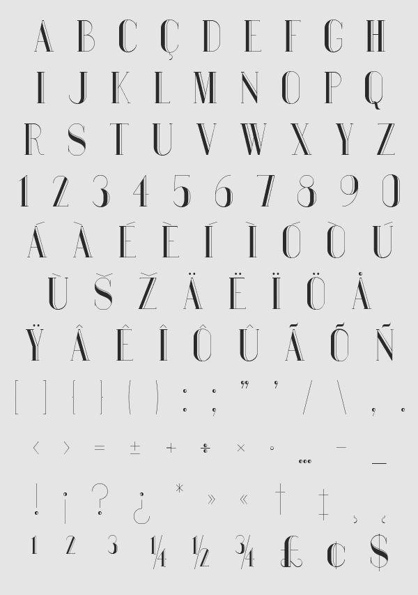 Bauru-font