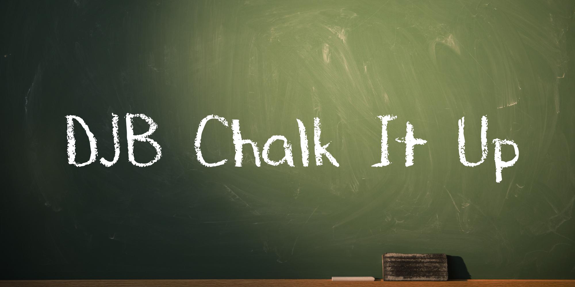 Studio Shot of chalkboard