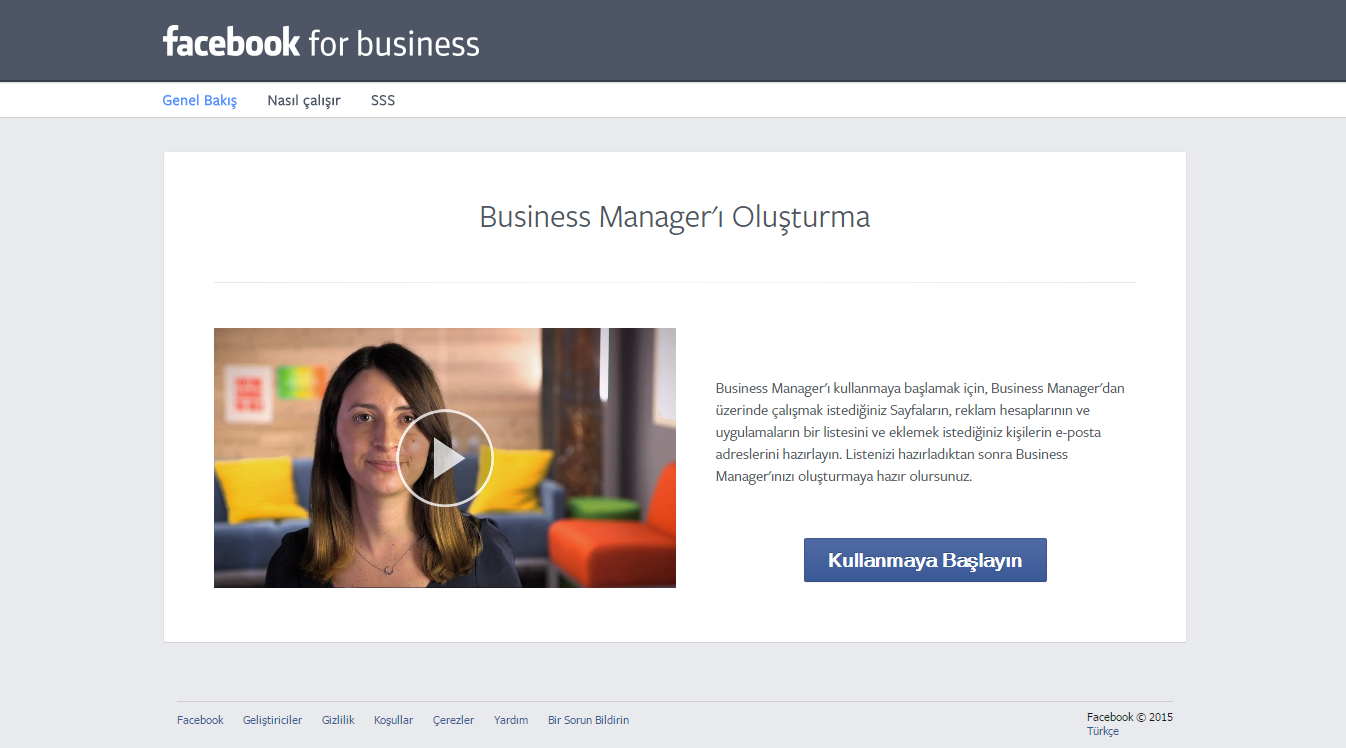 Facebook Business 1.Adım