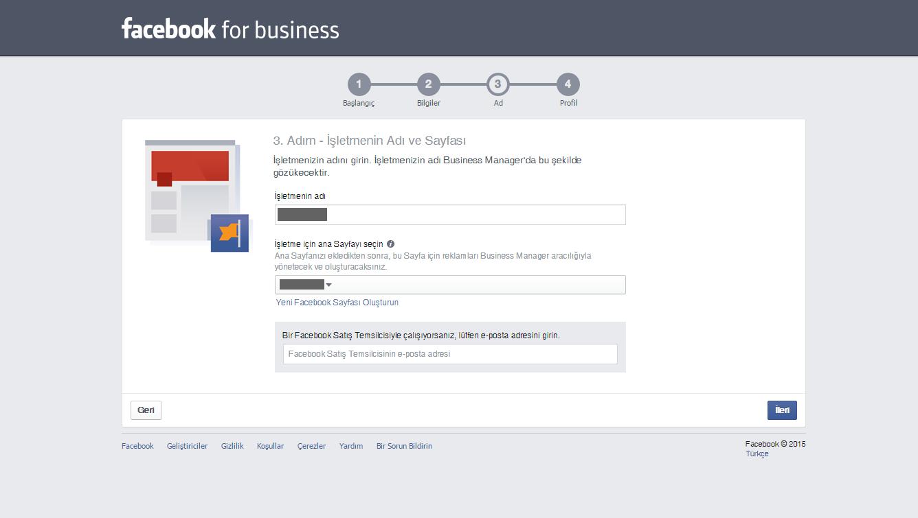 Facebook Business 4.Adım