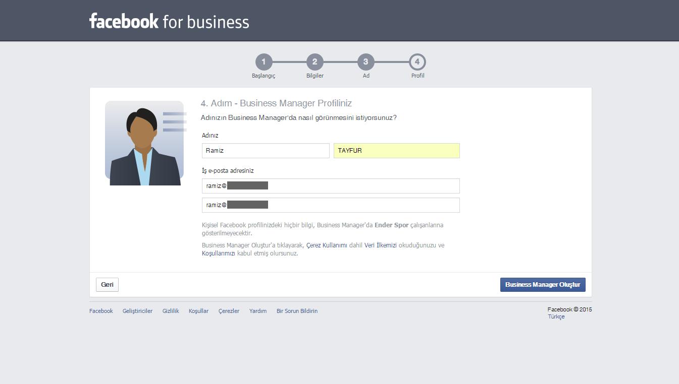 Facebook Business 5.Adım