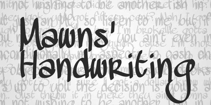 free-mawns-handwriting-el-yazisi-fontu