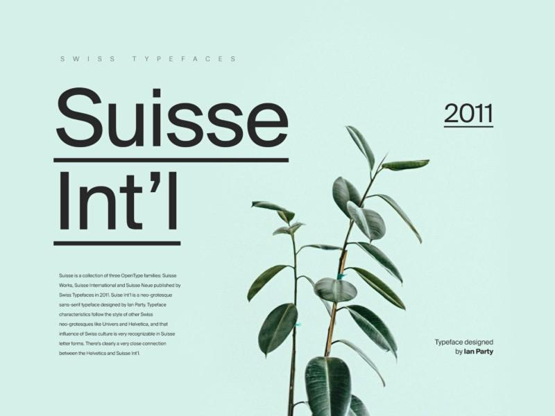 Suisse Int'l Font