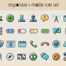Ücretsiz 100 Responsive Mobil İkon Seti [PSD]