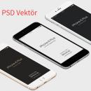 3D İphone 6 Plus PSD Vektör Mockup