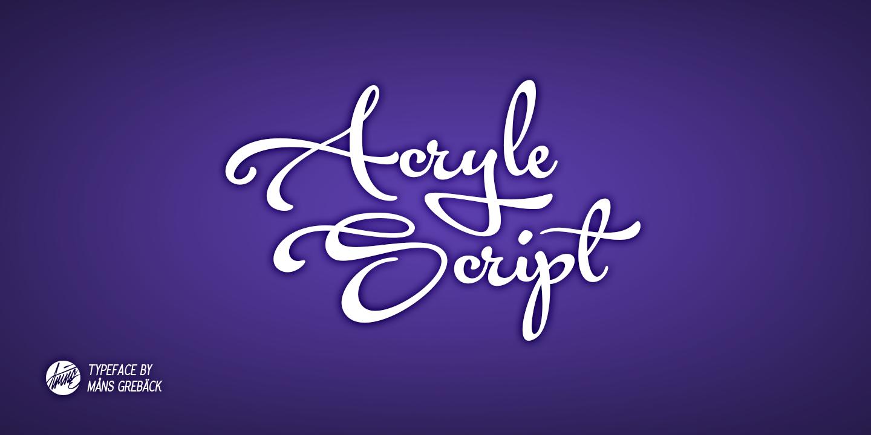 Acryle Script Font
