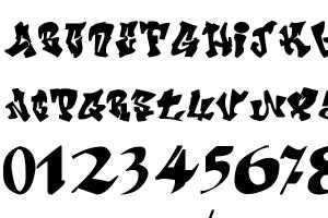 Crazy Calligraphy Font