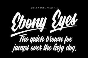 Ebony Eyes Font