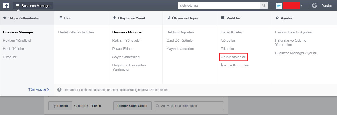 facebook-business-manager-urun-karalogu