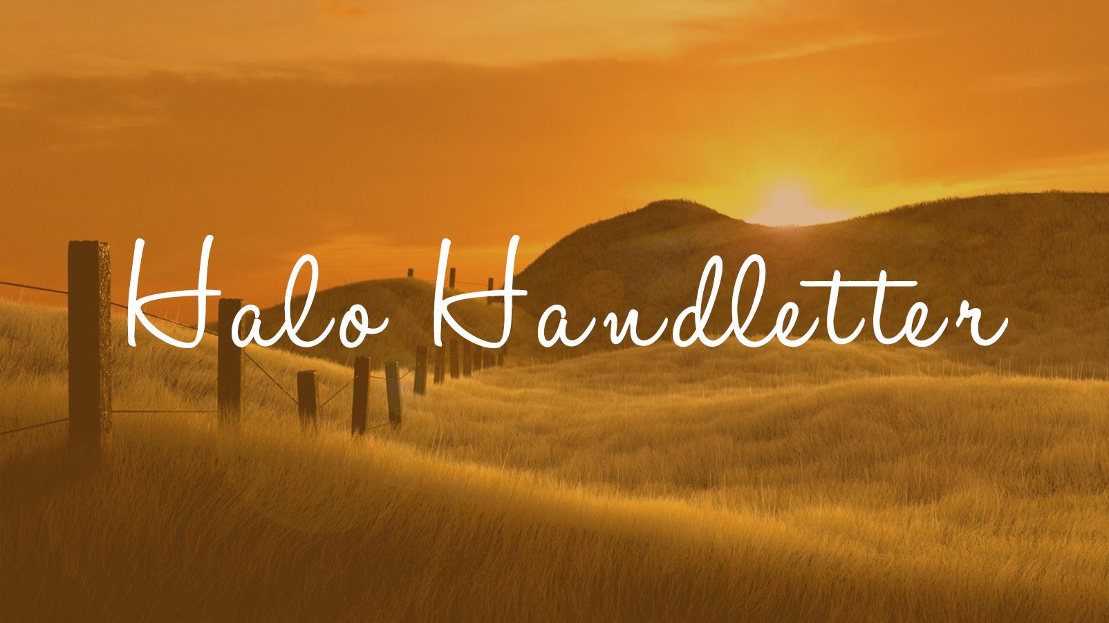 free-halo-handletter-el-yazisi-fontu