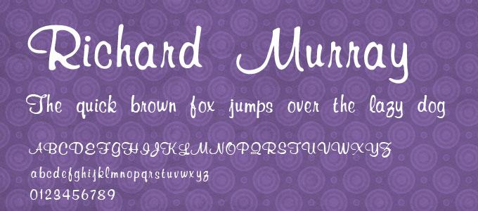 free-ucretsiz-richard-murray-el-yazisi-fontu