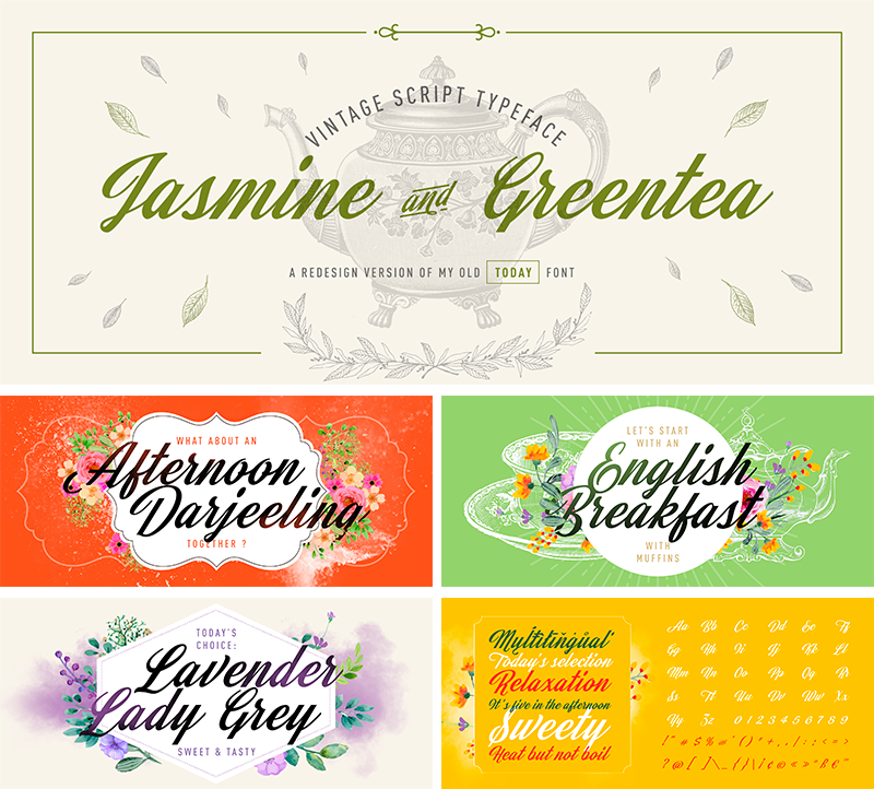 Jasmine and Greentea Fontu