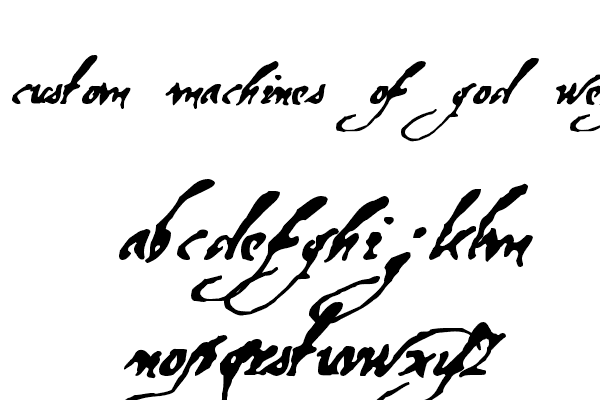 Machines of God Font