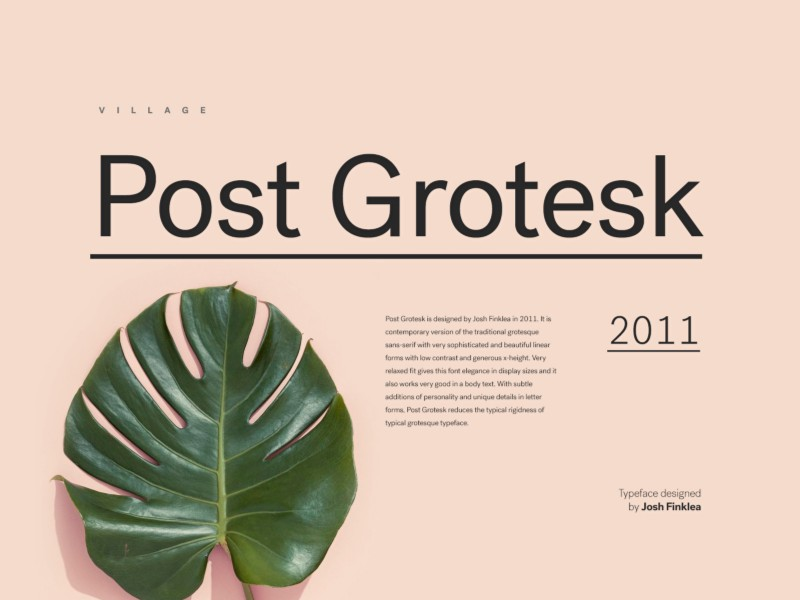 post-grotesk-font