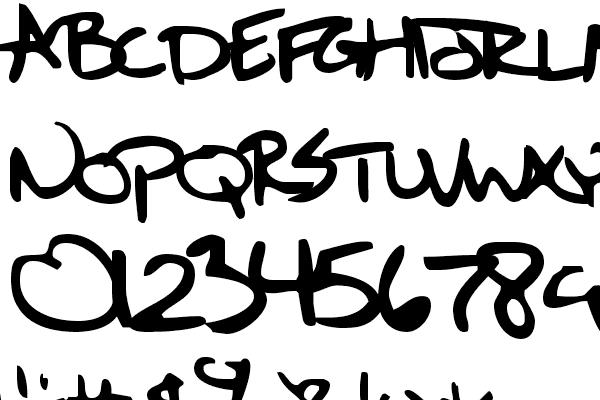 Sixth Kristen Squirt Font