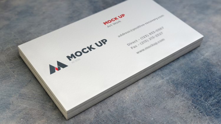 Ücretsiz Realistic Kartvizit Mockup